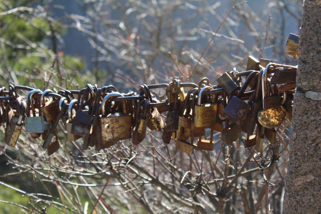 Locks like these are strewn thoughout the entire route.